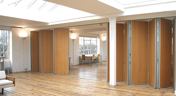 wooden hall partition